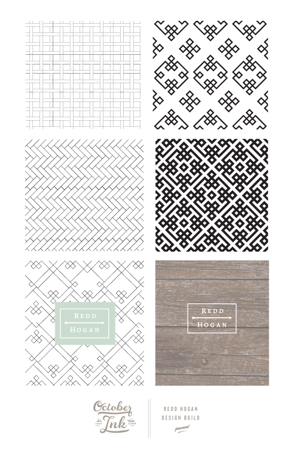 Redd Hogan Design Build | October Ink | Branding and Patterns