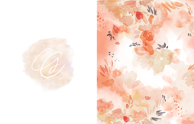 Gianny Campos branding - Floral Pattern - October Ink