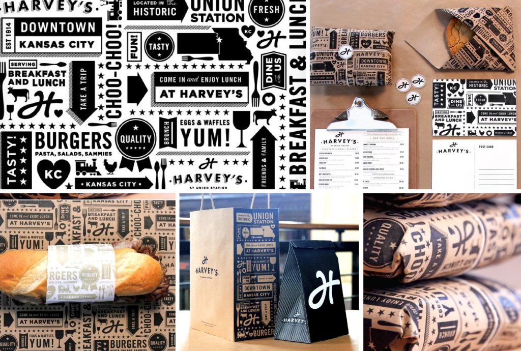 pattern packaging restaurant harveys design