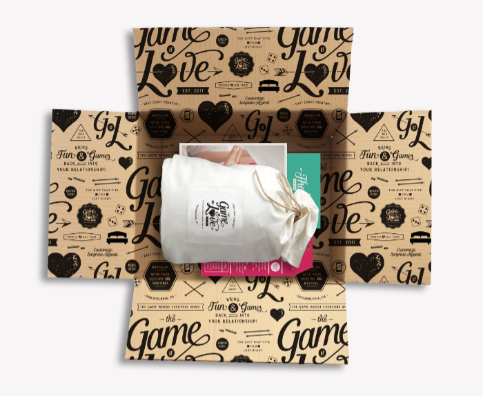 Game of Love Pattern Packaging by October Ink