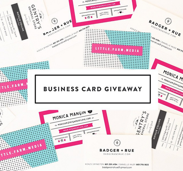 October Ink Business Card Giveaway