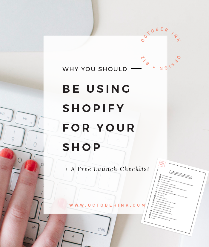 Using shopify for your shop and a free launch checklist