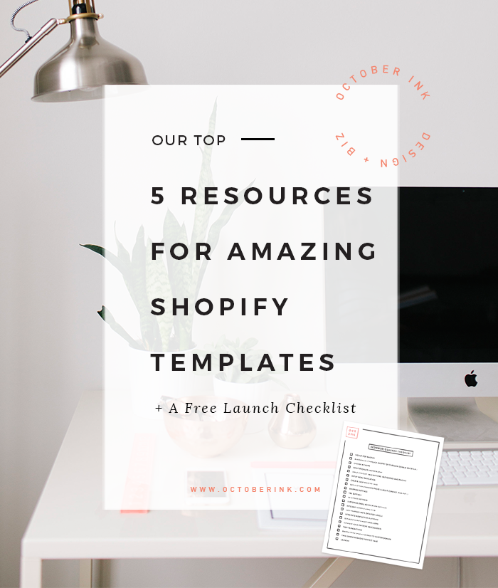 Our Top Resources For The Best Shopify Templates October Ink - Shopify design templates