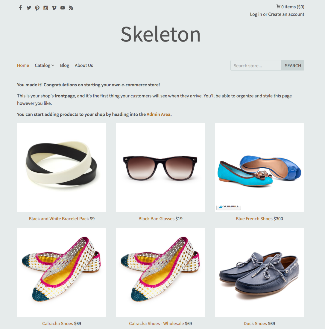 best shopify custom theme template