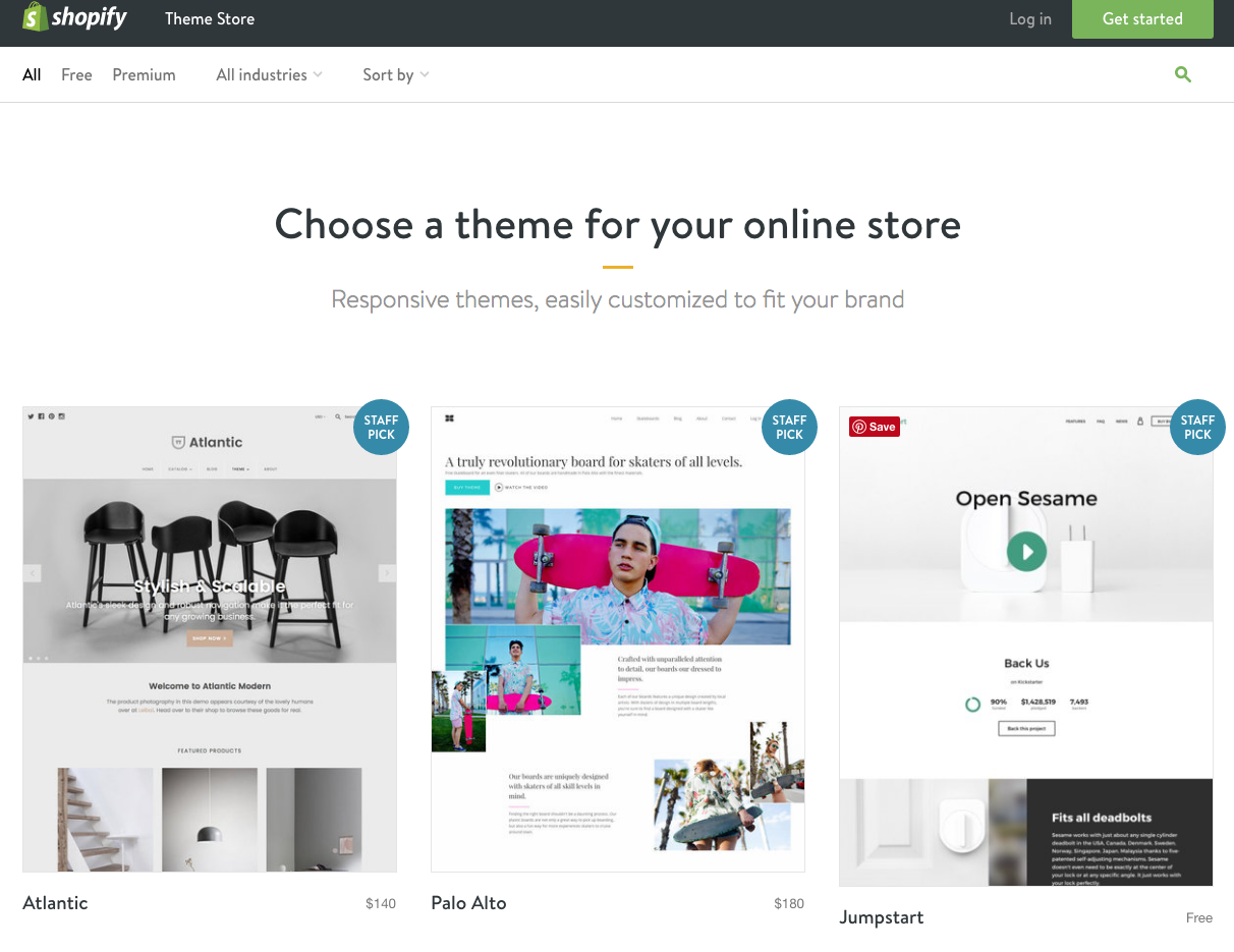 Shopify theme template